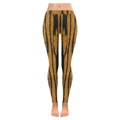 Womens Premium Leggings - Custom Animal Fur Prints - Tiger Fur Print / S - Clothing hot new items leggings yoga gear
