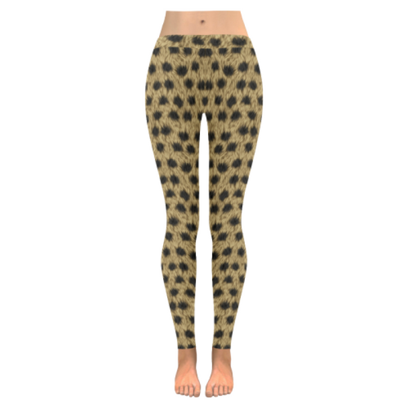 Womens Premium Leggings - Custom Animal Fur Prints - Yellow Leopard Fur Print / S - Clothing hot new items leggings yoga gear