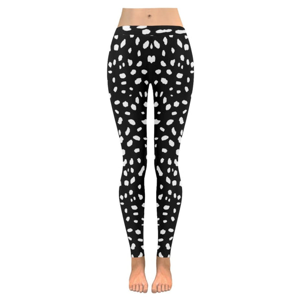 Womens Premium Leggings - Custom Black & White Animal Patterns - Black & White Cheetah / S - Clothing hot new items leggings yoga gear