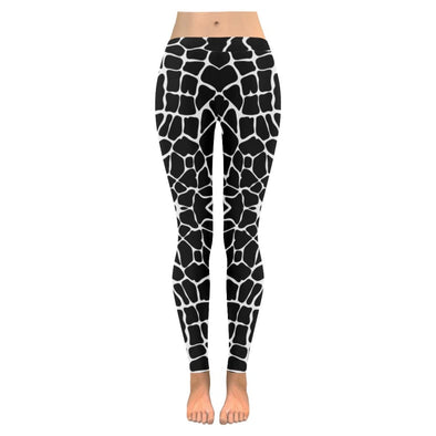 Womens Premium Leggings - Custom Black & White Animal Patterns - Black & White Giraffe / S - Clothing hot new items leggings yoga gear