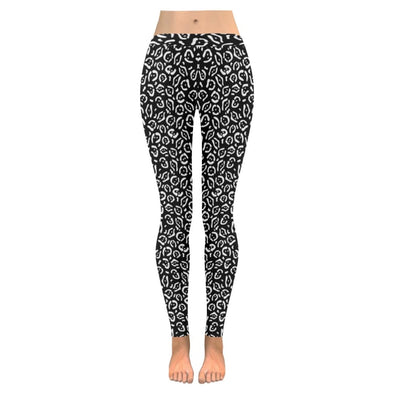 Womens Premium Leggings - Custom Black & White Animal Patterns - Black & White Jaguar / S - Clothing hot new items leggings yoga gear