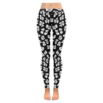 Womens Premium Leggings - Custom Black & White Animal Patterns - Black & White Leopard / S - Clothing hot new items leggings yoga gear