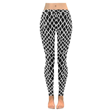 Womens Premium Leggings - Custom Black & White Animal Patterns - Black & White Reptile / S - Clothing hot new items leggings yoga gear