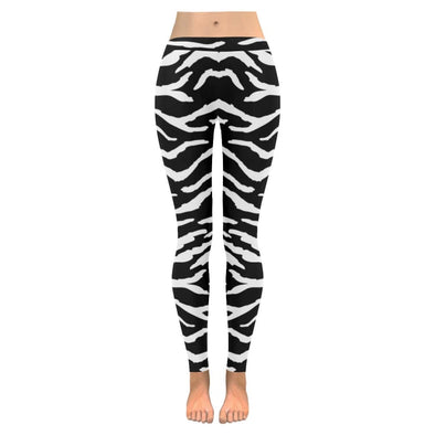 Womens Premium Leggings - Custom Black & White Animal Patterns - Black & White Tiger / S - Clothing hot new items leggings yoga gear