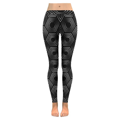 Womens Premium Leggings - Custom Black & White Animal Patterns - Black & White Turtle / S - Clothing hot new items leggings yoga gear