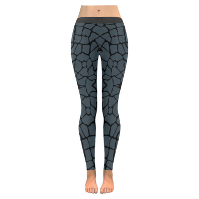Womens Premium Leggings - Custom Giraffe Pattern W/ Black Background - Charcoal Giraffe / Xxs - Clothing Giraffes Leggings Yoga Gear