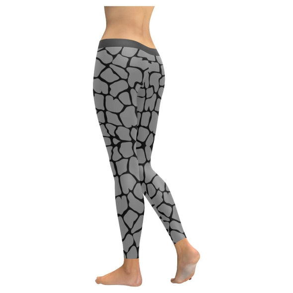 Womens Premium Leggings - Custom Giraffe Pattern W/ Black Background - Clothing Giraffes Leggings Yoga Gear