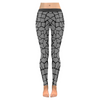 Womens Premium Leggings - Custom Giraffe Pattern W/ Black Background - Gray Giraffe / Xxs - Clothing Giraffes Leggings Yoga Gear