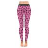 Womens Premium Leggings - Custom Giraffe Pattern W/ Black Background - Hot Pink Giraffe / Xxs - Clothing Giraffes Leggings Yoga Gear