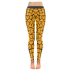 Womens Premium Leggings - Custom Giraffe Pattern W/ Black Background - Orange Giraffe / Xxs - Clothing Giraffes Leggings Yoga Gear
