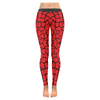 Womens Premium Leggings - Custom Giraffe Pattern W/ Black Background - Red Giraffe / Xxs - Clothing Giraffes Leggings Yoga Gear