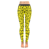 Womens Premium Leggings - Custom Giraffe Pattern W/ Black Background - Yellow Giraffe / Xxs - Clothing Giraffes Leggings Yoga Gear