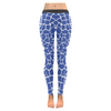 Womens Premium Leggings - Custom Giraffe Pattern W/ White Background - Blue Giraffe / Xxs - Clothing Giraffes Leggings Yoga Gear