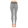 Womens Premium Leggings - Custom Giraffe Pattern W/ White Background - Gray Giraffe / Xxs - Clothing Giraffes Leggings Yoga Gear