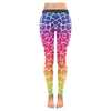 Womens Premium Leggings - Custom Giraffe Pattern W/ White Background - Rainbow Giraffe / Xxs - Clothing Giraffes Leggings Yoga Gear