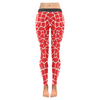 Womens Premium Leggings - Custom Giraffe Pattern W/ White Background - Red Giraffe / Xxs - Clothing Giraffes Leggings Yoga Gear