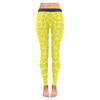 Womens Premium Leggings - Custom Giraffe Pattern W/ White Background - Yellow Giraffe / Xxs - Clothing Giraffes Leggings Yoga Gear