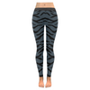 Womens Premium Leggings - Custom Tiger Pattern - Charcoal Tiger / Xxs - Clothing Leggings Tigers Yoga Gear