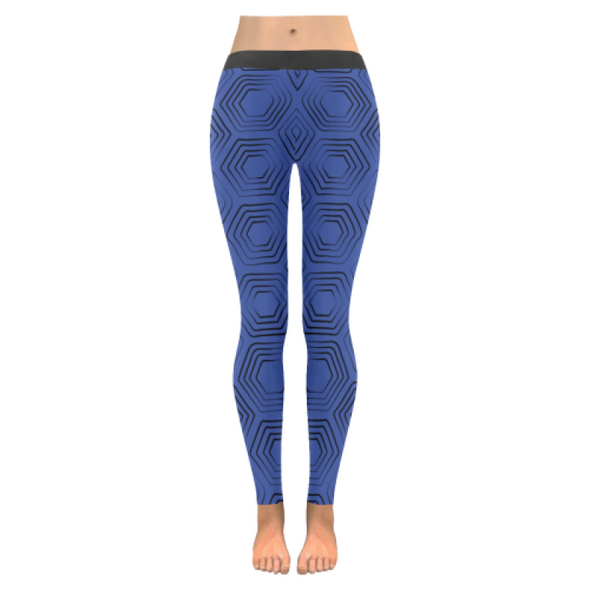 Womens Premium Leggings - Custom Turtle Pattern - Blue Turtle / Xxs - Clothing Leggings Turtles Yoga Gear