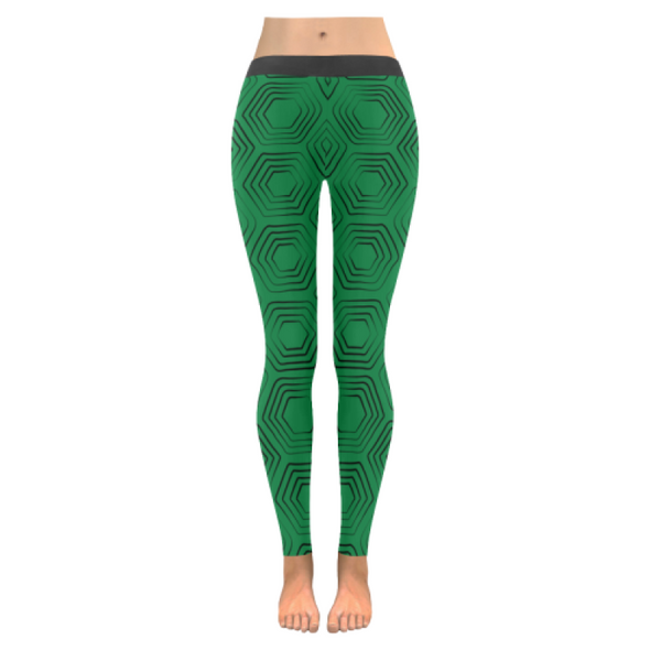 Womens Premium Leggings - Custom Turtle Pattern - Green Turtle / Xxs - Clothing Leggings Turtles Yoga Gear