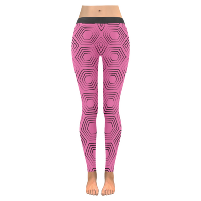 Womens Premium Leggings - Custom Turtle Pattern - Hot Pink Turtle / Xxs - Clothing Leggings Turtles Yoga Gear