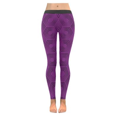 Womens Premium Leggings - Custom Turtle Pattern - Purple Turtle / Xxs - Clothing Leggings Turtles Yoga Gear