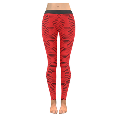 Womens Premium Leggings - Custom Turtle Pattern - Red Turtle / Xxs - Clothing Leggings Turtles Yoga Gear