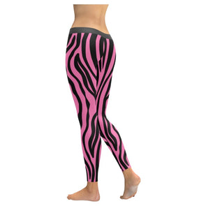 Womens Premium Leggings - Custom Zebra Pattern - Clothing Leggings Yoga Gear Zebras