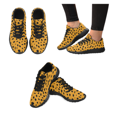 c3674461f6a38d Womens Running Sneakers - Custom Cheetah Pattern - Orange Cheetah   Us6 -  Footwear Big Cats