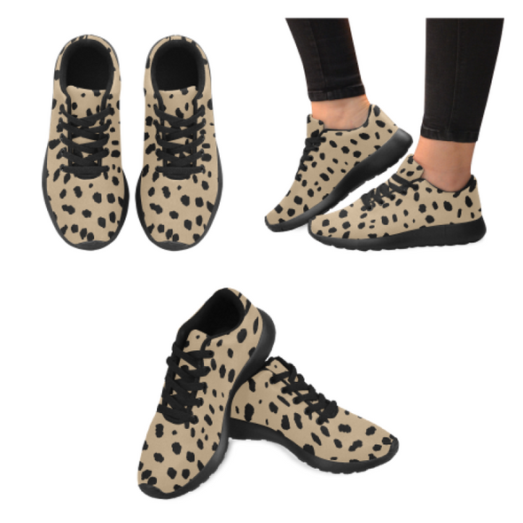 Womens Running Sneakers - Custom Cheetah Pattern - Tan Cheetah / Us6 - Footwear Big Cats Cheetahs Sneakers
