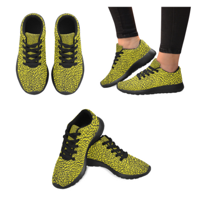 Womens Running Sneakers - Custom Elephant Pattern - Yellow Elephant / Us6 - Footwear Elephants Sneakers