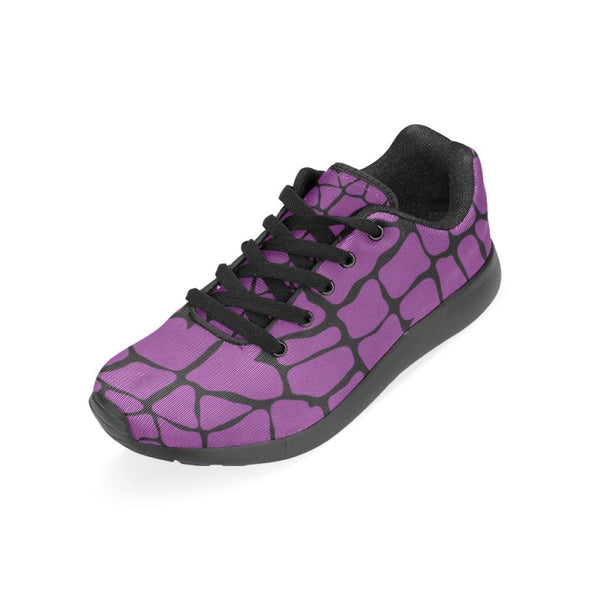 Womens Running Sneakers - Custom Giraffe Pattern W/ Black Background - Footwear Giraffes Sneakers