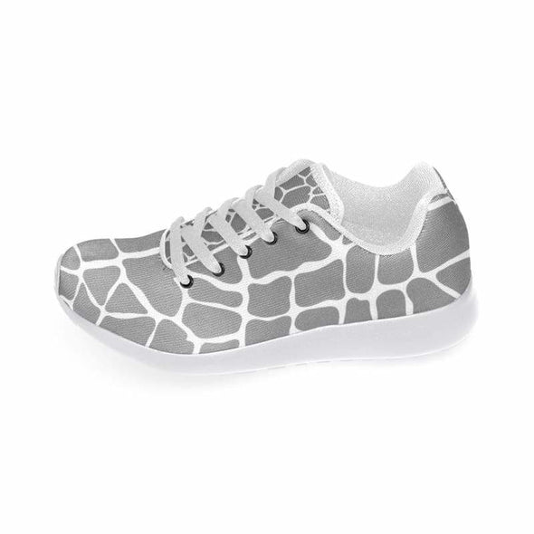 Womens Running Sneakers - Custom Giraffe Pattern w/ White Background - Footwear giraffes sneakers