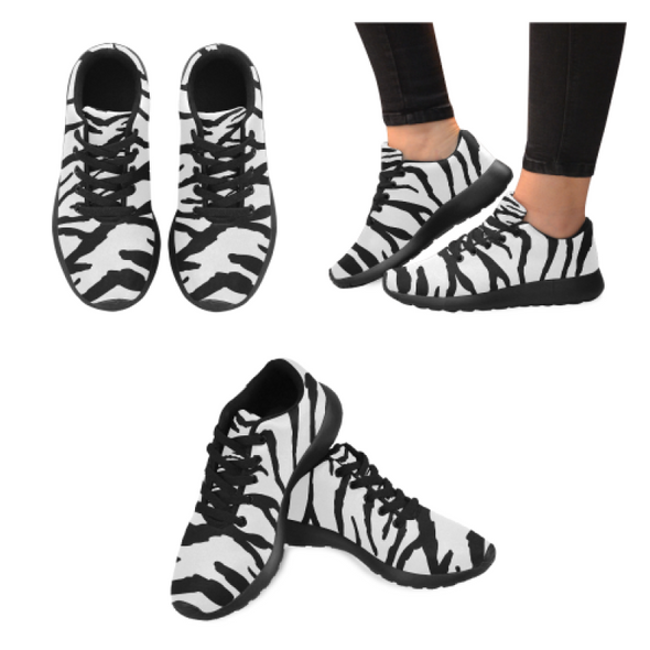 Womens Running Sneakers - Custom Tiger Pattern - White Tiger / Us6 - Footwear Big Cats Hot New Items Sneakers Tigers
