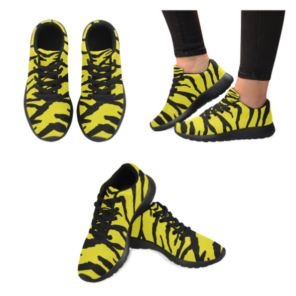 Womens Running Sneakers - Custom Tiger Pattern - Yellow Tiger / Us6 - Footwear Big Cats Hot New Items Sneakers Tigers