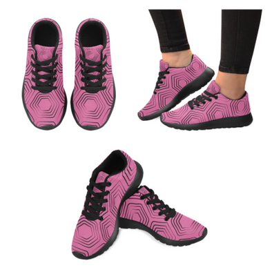 Womens Running Sneakers - Custom Turtle Pattern - Hot Pink Turtle / Us6 - Footwear Sneakers Turtles