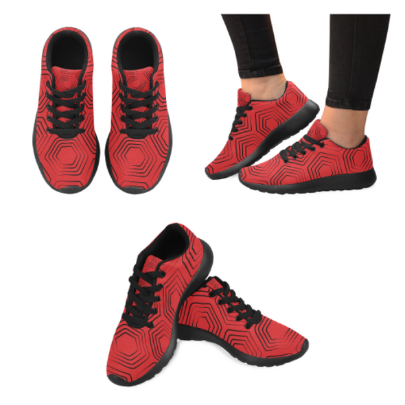 Womens Running Sneakers - Custom Turtle Pattern - Red Turtle / Us6 - Footwear Sneakers Turtles
