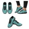 Womens Running Sneakers - Custom Turtle Pattern - Turquoise Turtle / Us6 - Footwear Sneakers Turtles