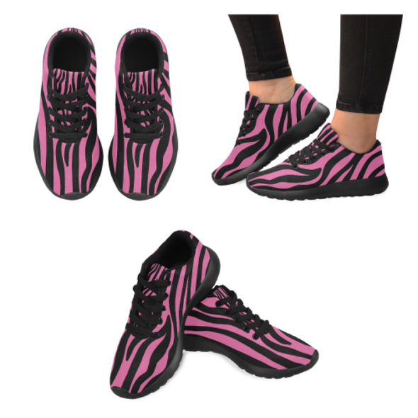 Womens Running Sneakers - Custom Zebra Pattern - Hot Pink Zebra / Us6 - Footwear Sneakers Zebras