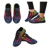 Womens Running Sneakers - Custom Zebra Pattern - Rainbow Zebra / Us6 - Footwear Sneakers Zebras