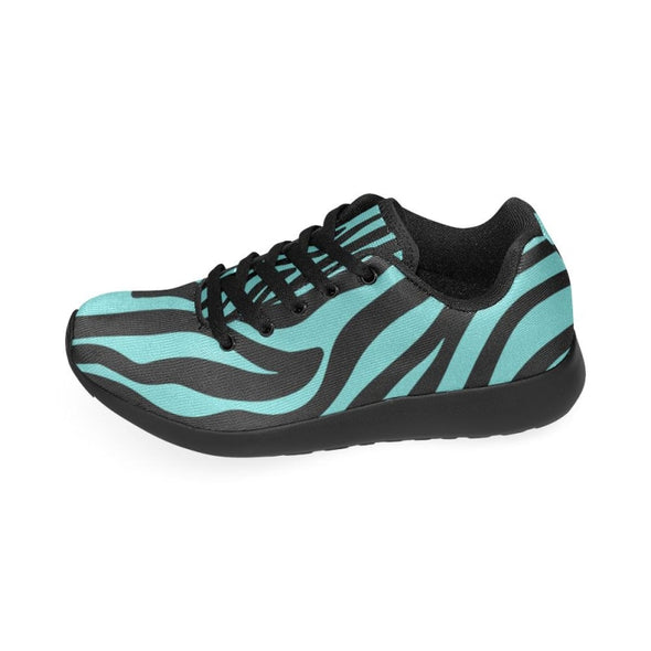 Womens Running Sneakers - Custom Zebra Pattern - Footwear Sneakers Zebras