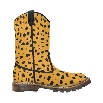 Womens Western Cowboy Boots - Custom Cheetah Pattern - Footwear Big Cats Boots Cheetahs Cowboy Boots Hot New Items