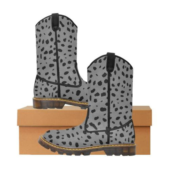Womens Western Cowboy Boots - Custom Cheetah Pattern - Gray Cheetah / Us6.5 - Footwear Big Cats Boots Cheetahs Cowboy Boots Hot New Items