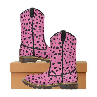 Womens Western Cowboy Boots - Custom Cheetah Pattern - Hot Pink Cheetah / Us6.5 - Footwear Big Cats Boots Cheetahs Cowboy Boots Hot New