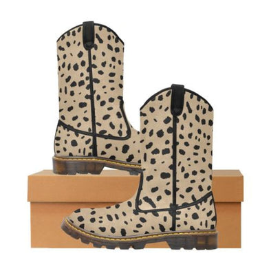 Womens Western Cowboy Boots - Custom Cheetah Pattern - Tan Cheetah / Us6.5 - Footwear Big Cats Boots Cheetahs Cowboy Boots Hot New Items