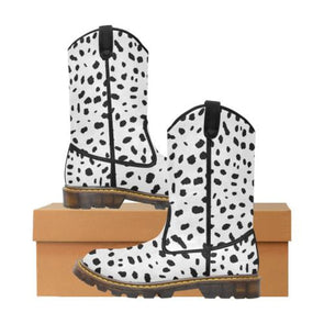 Womens Western Cowboy Boots - Custom Cheetah Pattern - White Cheetah / Us6.5 - Footwear Big Cats Boots Cheetahs Cowboy Boots Hot New Items