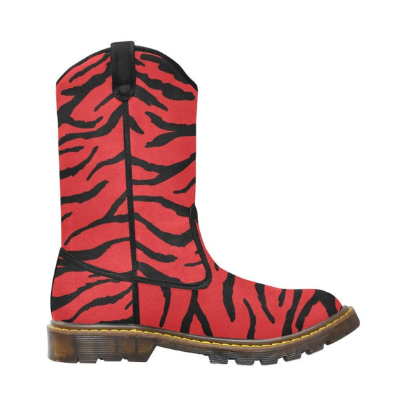 Womens Western Cowboy Boots - Custom Tiger Pattern - Footwear Big Cats Boots Cowboy Boots Tigers