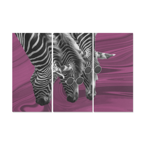 Zebras Wearing Sunglasses - Canvas Wall Art - Pink Zebras - Wall Art Canvas Prints Zebras