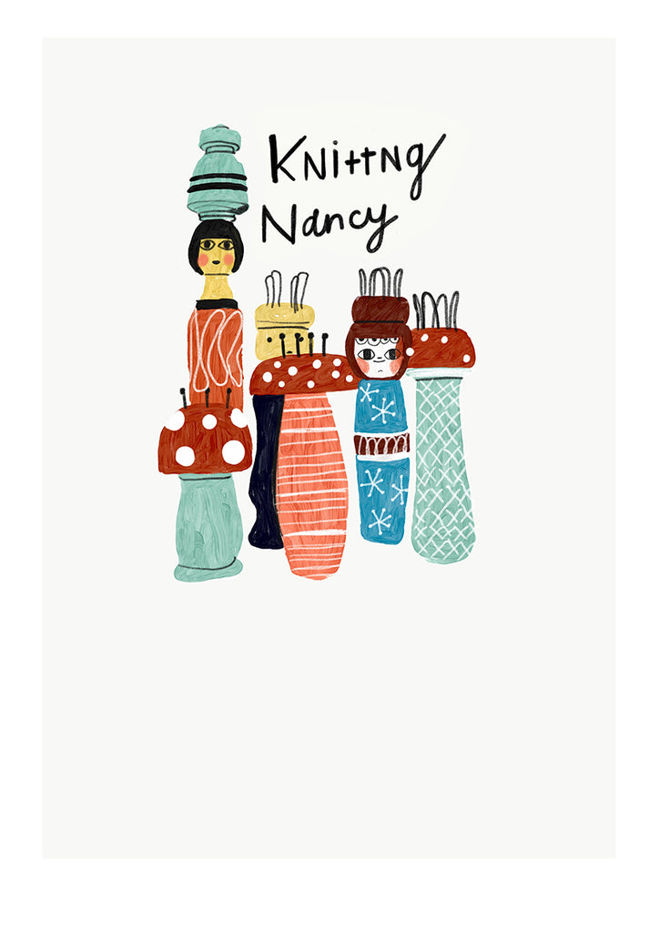 Knitting Nancy