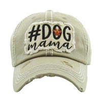 Beige Dog Mama Ball Cap